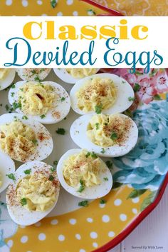 This Classic Deviled Eggs recipes is easy to make with simple ingredients. They turn out perfect every time. Great for parties, BBQ's, and any and every holiday dinner. Easter Recipes, Egg Recipes, Holiday Recipes, Appetizers For Party, Appetizer Recipes, Snack Recipes, Summer Cookout Sides, Best Grill Recipes, Good Food