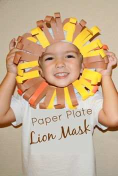 Paper Plate Lion Mask-fun fine motor craft for pretend play. Letter of the Week preschool curriculum. Letter L. Lion King Crafts, Lion Craft, Preschool Crafts, Kids Crafts, Preschool Circus, Leo The Late Bloomer, Lion And The Mouse, Lion Mask, Paper Plate Crafts For Kids
