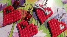 Valentine's Day heart earrings   by  lunasulmare1