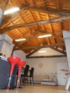 ... privata #illuminazione #soffitto #legno #tesate #Lighting #Design