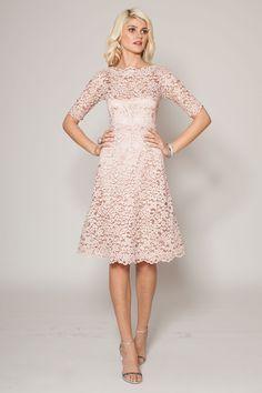 Dusty Rose Bridesmaid Dresses that Looks Wonderful : Dusty Rose Lace Bridesmaid Dresses