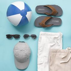 Celebrating the long weekend with a beach party, Perry style. #veryperry #flatlay