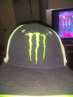 bb2ab5e6153 Monster Energy Snapback Hat Cap 55 Brand Black Green Authentic Product  Sticker  fashion  clothing