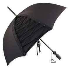 Corset umbrella - I think one in white would be an awesome Bride's umbrella for Plan B.