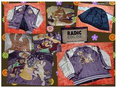 SUKAJAN Souvenir bomber Rayon jacket ( japanese Women's M ) Moon Rabbit monkey…