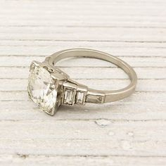 Beautiful!   I have expensive taste.  202 Carat Old European Cut Diamond Engagement by ErstwhileJewelry. , via Etsy.