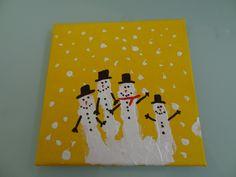 Christmas Craft: Handprint Snowman Family