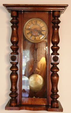German Wall Clock. Ca 1880.