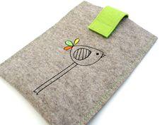 e-Reader Taschen - eReader Tasche Kobo Glo & Kobo Glo HD Filz - ein Designerstück von Fleurette4you bei DaWanda