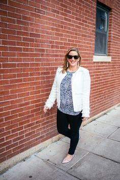 Spring Layers in a white blazer- Boston Chic Party