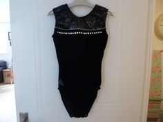 Milano Black Leotard Size 34  (age 13-15 years) Gymnastics/Trampolining/Dance