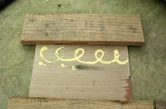 Gluing pallet pieces to luan for pallet frames