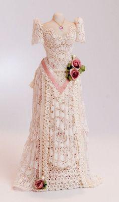 Miniature Dollhouse Dressed Mannequin OOAK, Artist Made, Hand-signed Buckaye