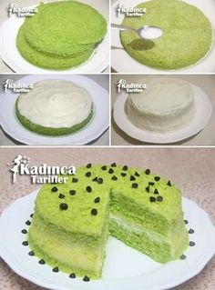 Practical Spinach Cake Recipe, How to Make - Dessert Recipes Delicious Cake Recipes, Easy Cake Recipes, Yummy Cakes, Dessert Recipes, Spinach Cake, Icebox Desserts, Turkish Recipes, Cheesecake Recipes, No Bake Cake