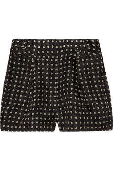 j. crew high-waisted silk shorts