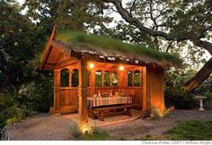 """###Live Caption:""""Nordic Roots"""" (open-air Norwegian style pavilion) from """"Stylish Sheds and Elegant Hideaways'' by Debra Prinzing (Clarkson P..."""