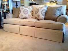 Kincaid Sofa #design #furniture - Looks soft and squishy but will still hold it's shape. A classic shape - love it.