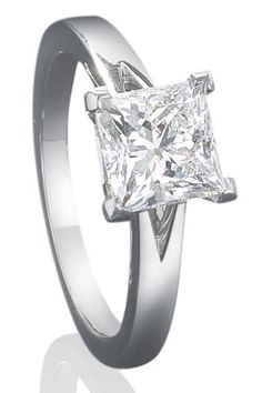 Engagement Ring: Princess cut. It is simple and I love it <3 I want one just like this in the future