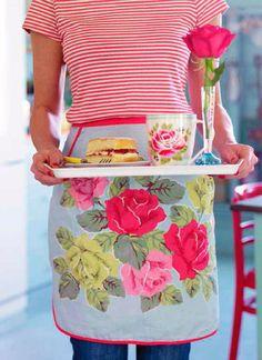 stripes, tea, roses, and jam