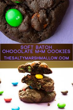 Rich, soft & chewy chocolate cookies packed full of m&m candies!