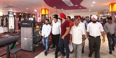 MLA Jammu East Rajesh Gupta having glimpse of the equipments at Count Fitness Gym & Spa.     Excelsior/Rakesh