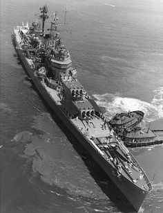 USS Canberra (CA-70) Baltimore-class heavy cruiser of the US Navy.