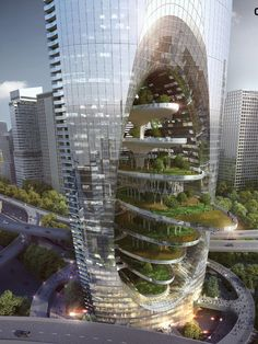 ertical city by BKV group. the supertall skysc. - ertical city by BKV group. the supertall skyscraper concept is an - Architecture Durable, Architecture Unique, Concept Architecture, Futuristic Architecture, Sustainable Architecture, Residential Architecture, Landscape Architecture, Building Architecture, Eco City