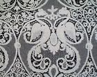 """1900's TABLECLOTH ITALIAN CANTU LACE FIGURAL WITH SWANS BANQUET 136"""" x 68"""""""