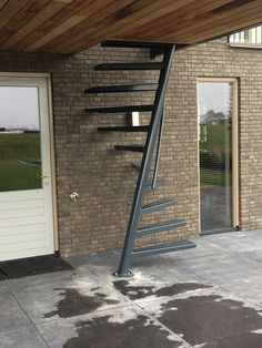 EeStairs is renowned for bespoke design, but did you know that we have a compact standard staircase available for limited space locations? The by EeStairs® is designed to suit situations where space is at a premium, such access to a loft room. Standard Staircase, Black Staircase, Narrow Staircase, Spiral Staircases, Home Stairs Design, House Design, Steps Design, Staircase Outdoor