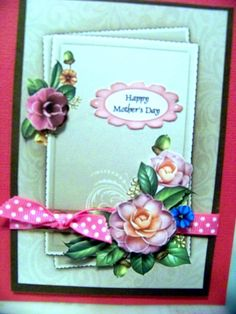 Birthday card with dotted swiss ribbon