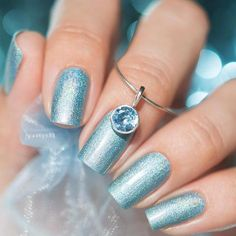 Winter Season Nails in Pale Blue Shades picture 3