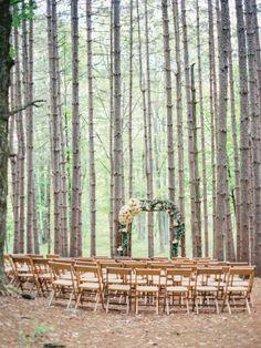 Romance in the pine trees: http://www.stylemepretty.com/2015/03/30/whimsical-pine-grove-wedding/ | Photography: Josh Gooden - http://www.joshgooden.com/