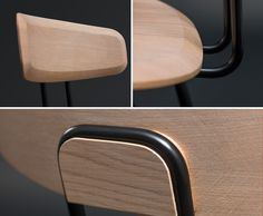 Okito, solid wood seat by Zeitraum