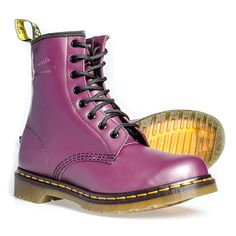 Dr Martens 8 Hole Smooth Boots (Purple)