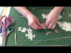 Easy lace butterfly embellishment tutorial - YouTube