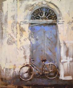 """Saatchi Online Artist: Fernanda Cataldo; Oil, Painting """"blue door"""""""