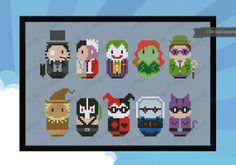 Enemigos de Batman parodian punto de Cruz PDF por cloudsfactory