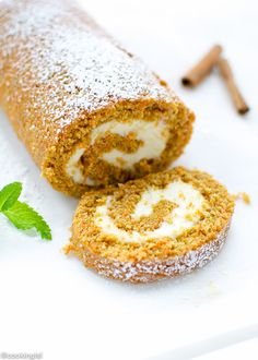 Carrot Cake Roll With Cream Cheese Filling from @lsl6
