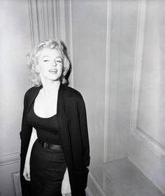 Marilyn being interviewed by the press outside her Sutton Place, NYC apartment about her engagement to Arthur Miller, June 21st 1956.
