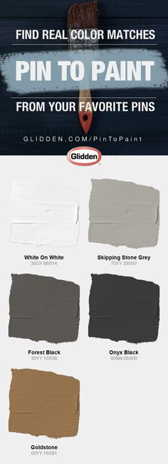 Get real paint color matches based on your Pinterest Pins with our Glidden<sup>
