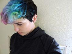 vibrant locks // hair // colour // hair dye // bright // aesthetic // grunge // pastel // blue // pink // purple // green // black
