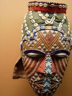 Kuba Mask at the politically incorrect Africa Museum, Tervuren, Belgium