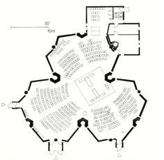 Black & White Plans [583] Dieter Baumewerd's Holy Spirit Church, Emmerich, Germany 1962-66 via