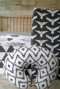 Tribal Baby Bedding Crib Sheet Skirt Changing Pad by NeonEarthBaby, $45.00