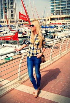 2293a63e184 Discover this look wearing Blue Zara Jeans