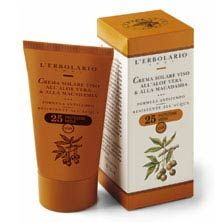 Crema solare Viso all'Aloe Vera & alla Macadamia - Sole e Aria Aperta - L'Erbolario