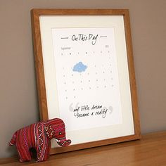 On This Day Personalised Print by Heidi Nicole