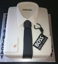 Hugo Boss shirt cake.