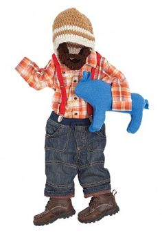 For Your Little Outdoorsman: Paul Bunyan    Suspenders and a beard turn play clothes into a lovable lumberjack!    We used:    Jeans (Old Navy)    Suspenders (americanapparel.com)    American Living plaid shirt (jcpenney.com)    Arizona boots (jcpenney.com)    Crocheted hat and beard (bylauradesign.etsy.com)    Blue ox (zfla.etsy.com)