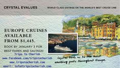 Book your Crystal cruise by January 3, 2014 to savor the best fares to Europe for as little as $1,445 per person! #bigbluenation #luxurycruise